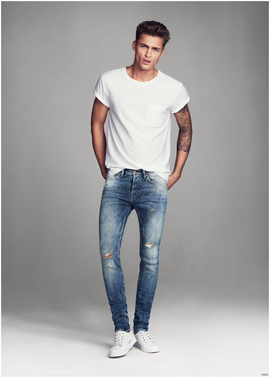 Our collection of jeans for men provides essential denim for days off, nights out and versatile options that work for both. You'll discover everything from classic men's black jeans, an array of blue washes and grey styles in a complete range of fits and cuts to create the look you want.
