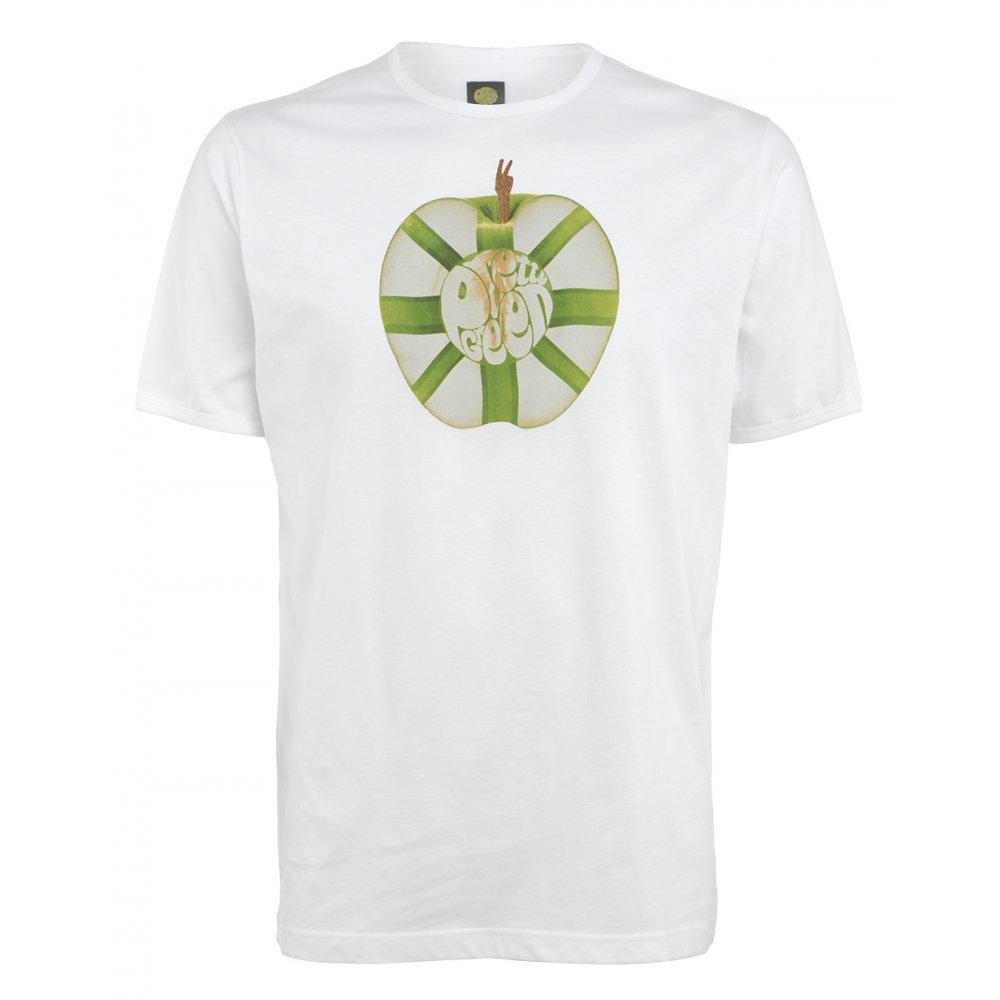 Pretty Green T Shirts White Short Sleeve Union Jack Apple