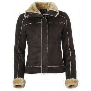 Armani Jeans Chocolate Brown Faux Fur Jacket