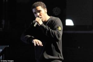 Drake wears Stone Island crew neck sweat