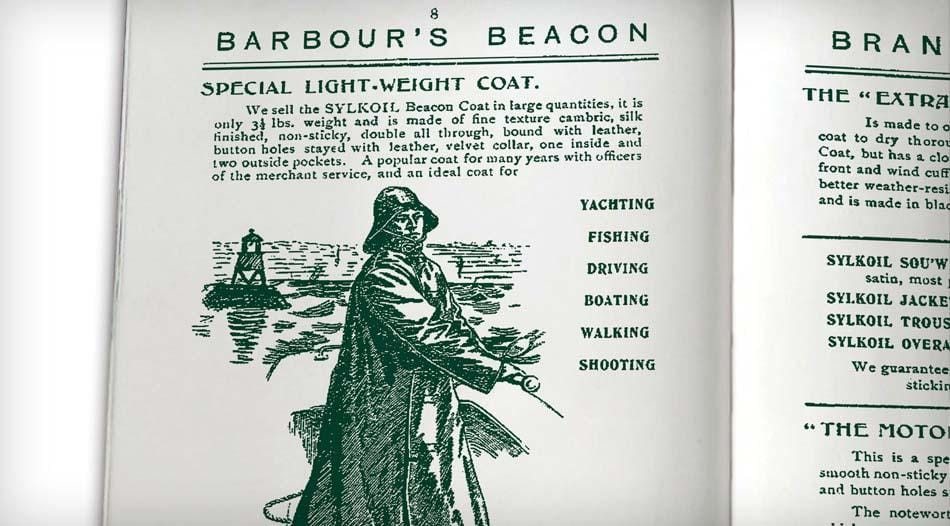 Barbour Vintage Catalogue featuring a Barbour jacket