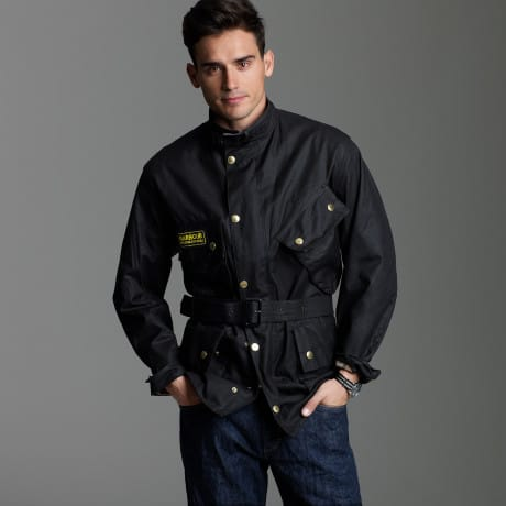 The signature Barbour International jacket at Repertoire