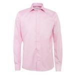 Eton Shirts Pink Slim Fit Cambridge Twill Cotton Shirt