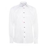 Eton Shirts White Multi Coloured Button Slim Fit Shirt