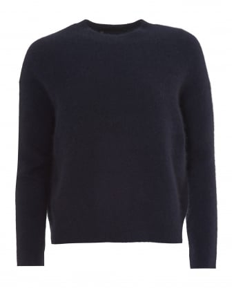 Womens Alexa Jumper, Relaxed Fit Navy Blue Sweater