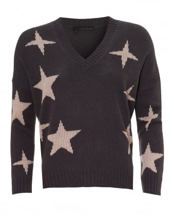 Womens Liliana Jumper, Star Print Cement Rose Quartz Sweater