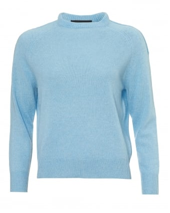 Womens Moni Jumper, Crew Neck Bluebell Soft Blue Sweater