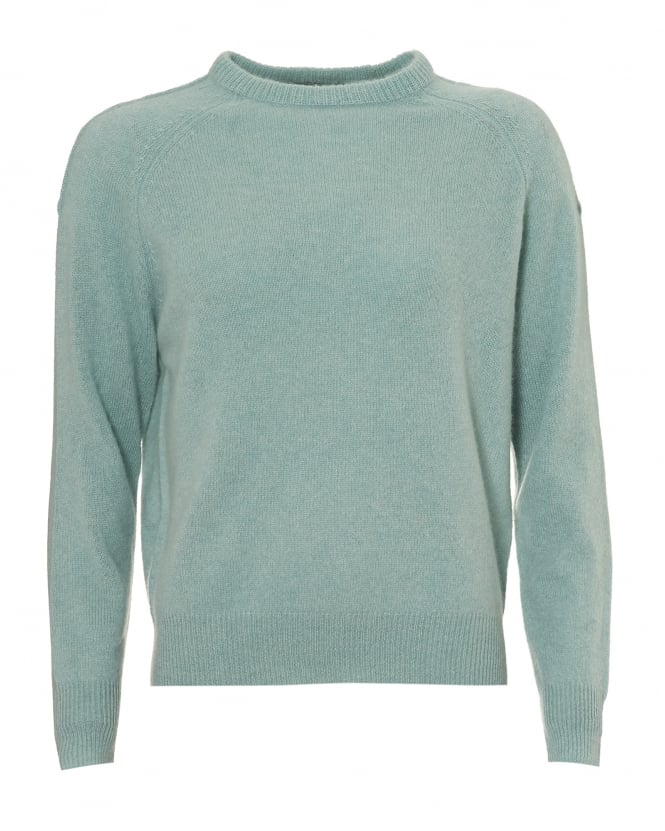 360 Cashmere Womens Moni Jumper, Crew Neck Canal Soft Mint Green Sweater
