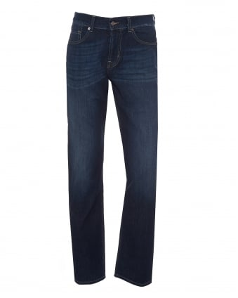 Mens Slimmy Jean New York Dark Wash Navy Blue Denim