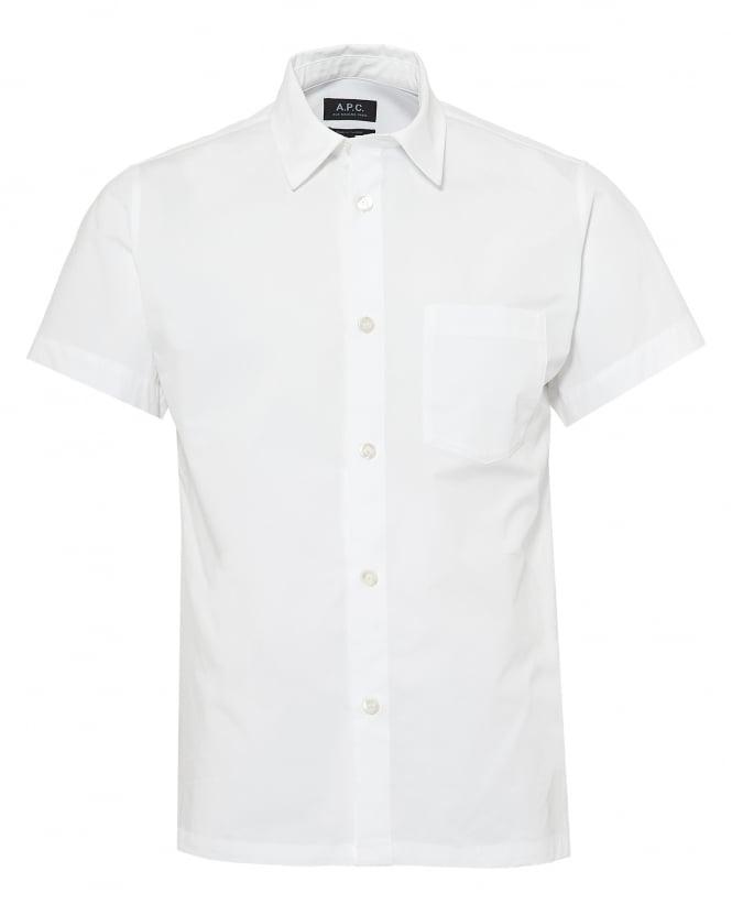 A.P.C. Mens Cippi Short Sleeved Cotton White Shirt