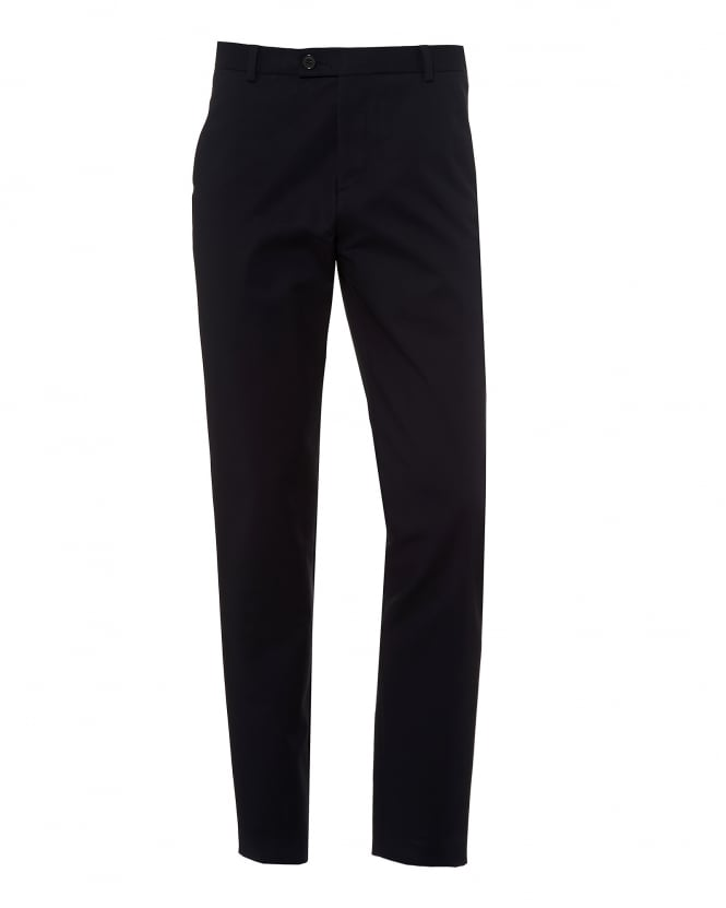 A.P.C. Mens Dougias Chinos, Cotton Stretch Dark Navy Trousers