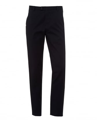Mens Dougias Chinos, Cotton Stretch Dark Navy Trousers