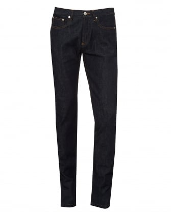Mens Petit Standard Jeans, Low Rise Dark Raw Denim