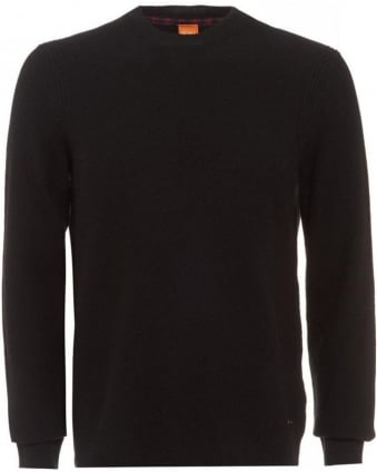 Acesto Black Jumper New Wool Sweater