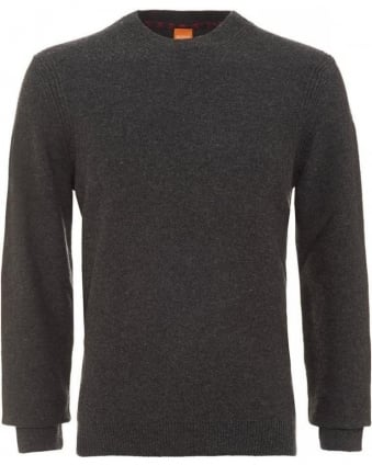 Acesto Charcoal Jumper New Wool Sweater