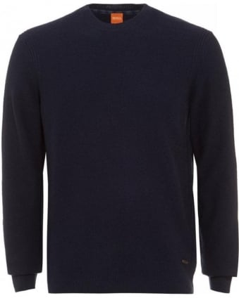 Acesto Navy Blue Jumper New Wool Sweater