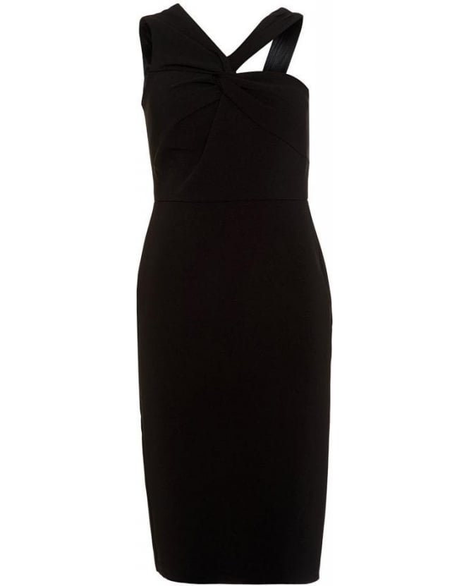 Forever Unique Aisha Black Fitted Pencil Dress