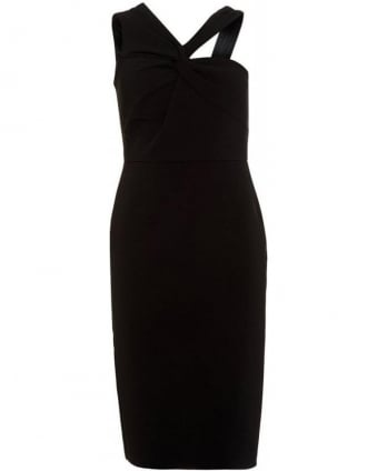 Aisha Black Fitted Pencil Dress