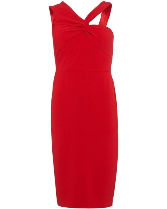 Forever Unique Aisha Red Fitted Pencil Dress