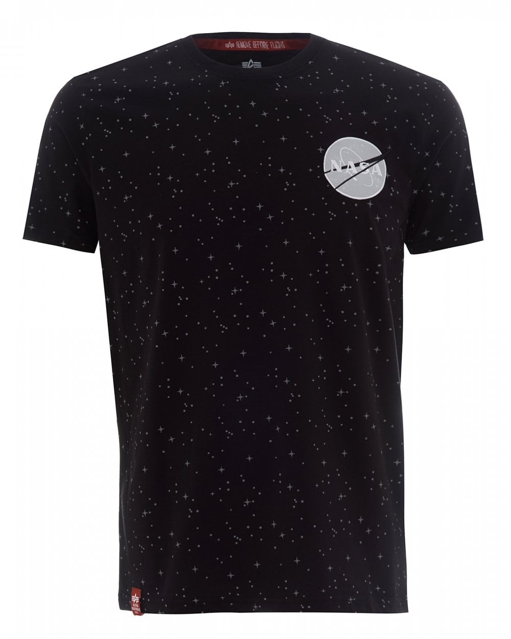 check out 2eed4 27011 Mens Black NASA T-Shirt, Starry Tape Tee