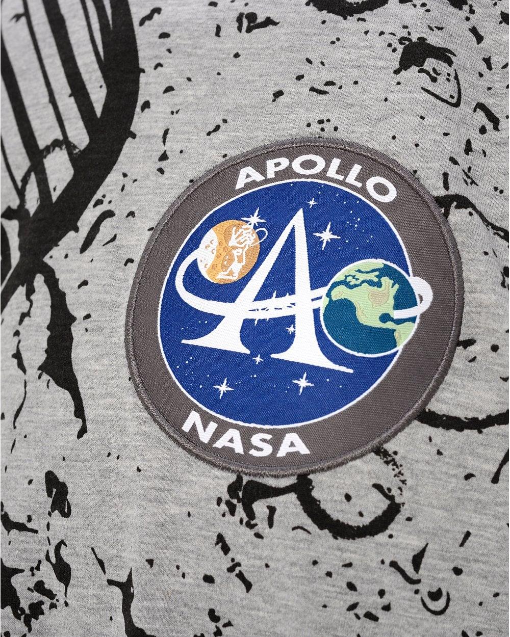 9afb2ac2 Alpha Industries Mens Grey NASA Apollo Tee, Moon Landing T-Shirt