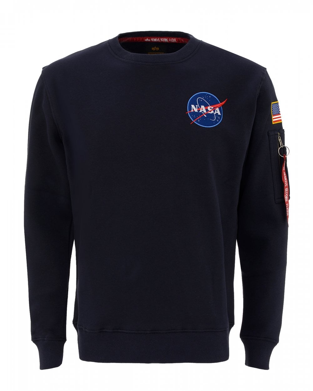 2e3a96be42 Alpha Industries Mens NASA Space Shuttle Sweatshirt, Blue Sweatshirt