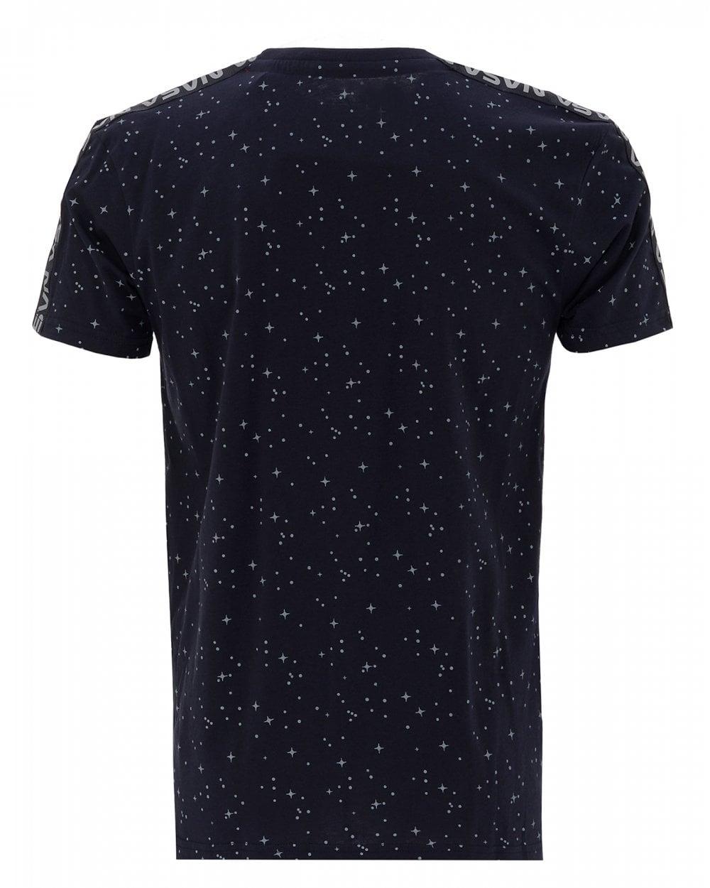 autoryzowana strona buty skate tanie jak barszcz Mens Navy NASA T-Shirt, Starry Tape Tee
