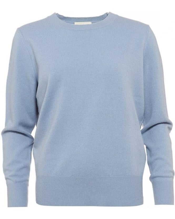 American Vintage Sycamore Sweater, Blue Crew Neck Jumper