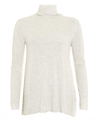 Womens Blossom Roll Neck Polar Melange Top