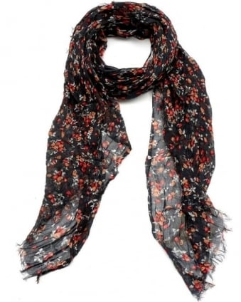 Womens Caldwell Scarf, Strawberry Carbon Print Model Scarf
