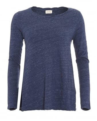 Womens Hot Springs Twisted Navy Melange Top