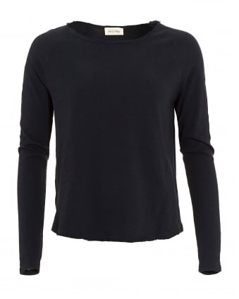 Womens Jumper, Sonoma Wide Collar Navy Blue Sweatshirt