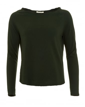 Womens Jumper, Sonoma Wide Collar Pesto Green Sweatshirt