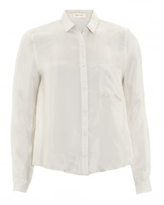 Womens Nowichurch Chest Pocket Frost White Shirt