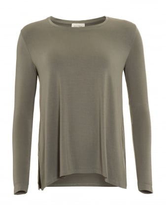 Womens Top, Limeday A-Line Long Sleeve Chlorophyll T-Shirt