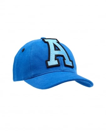 Mens Baseball Cap, Large A Front Logo Blue Cap