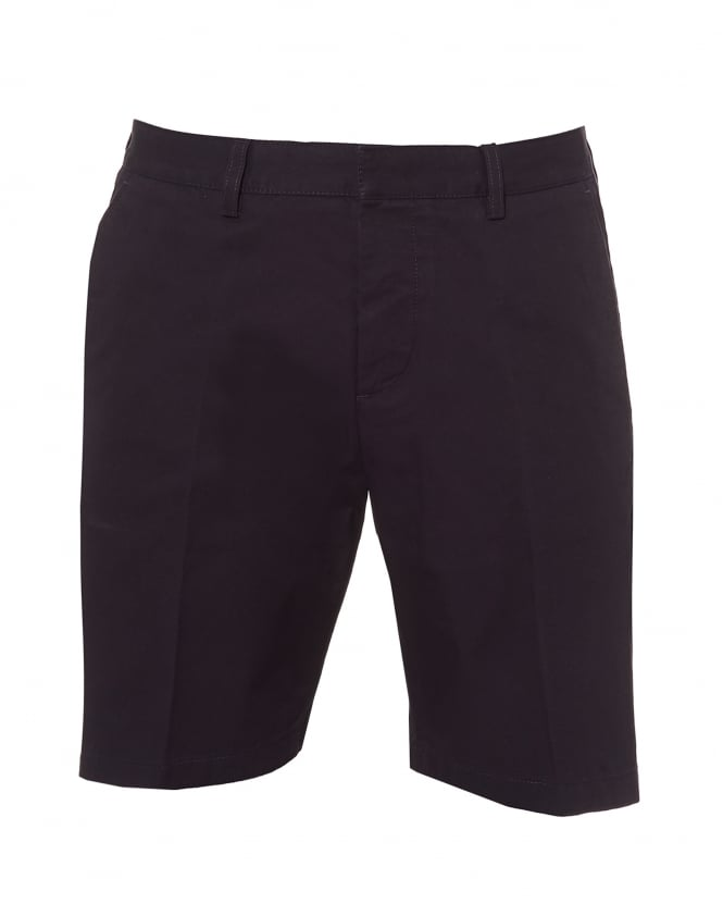 Ami Mens Bermuda Shorts, Tailored Navy Blue Shorts