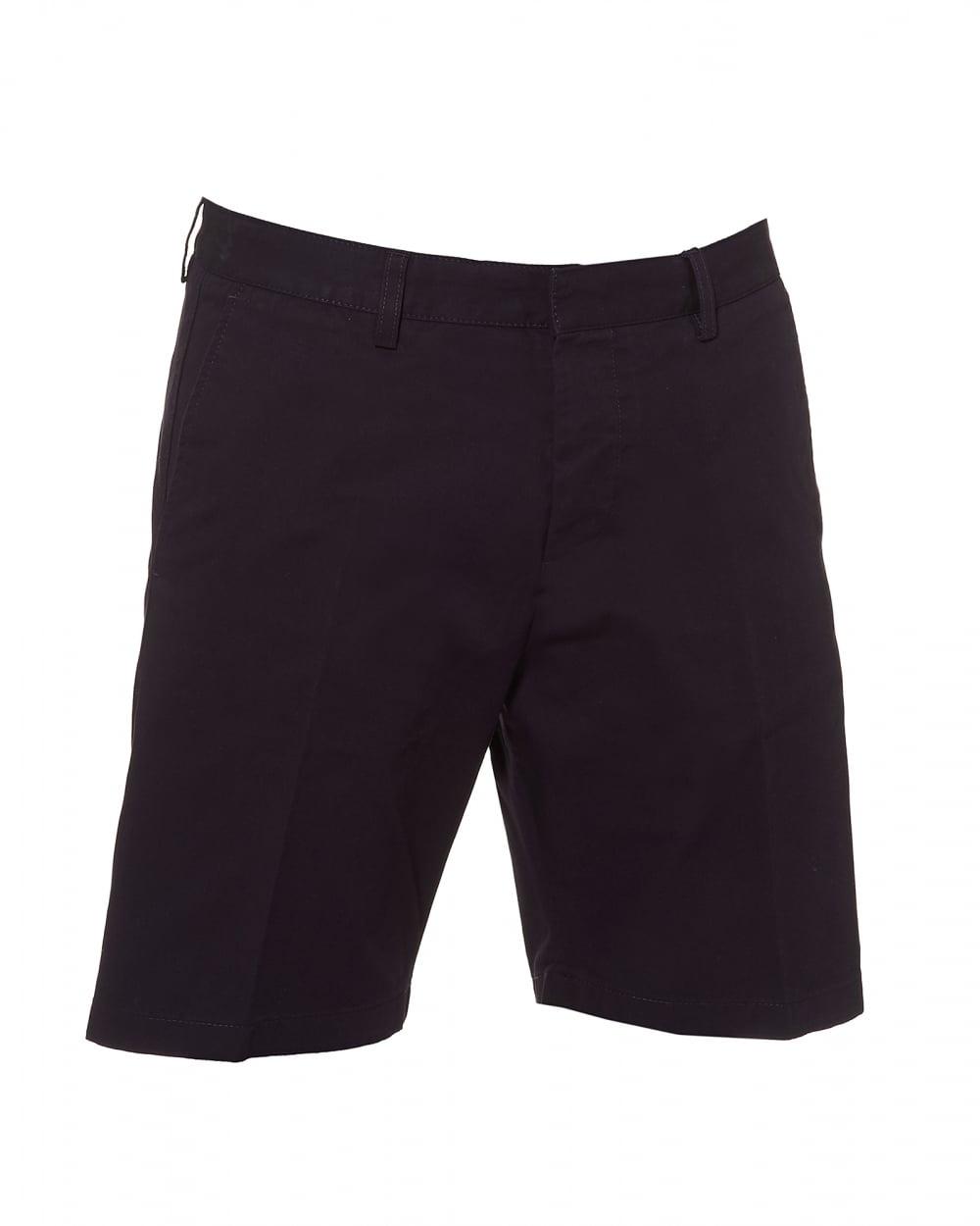 Ami Mens Bermuda Shorts Tailored Navy Blue Shorts