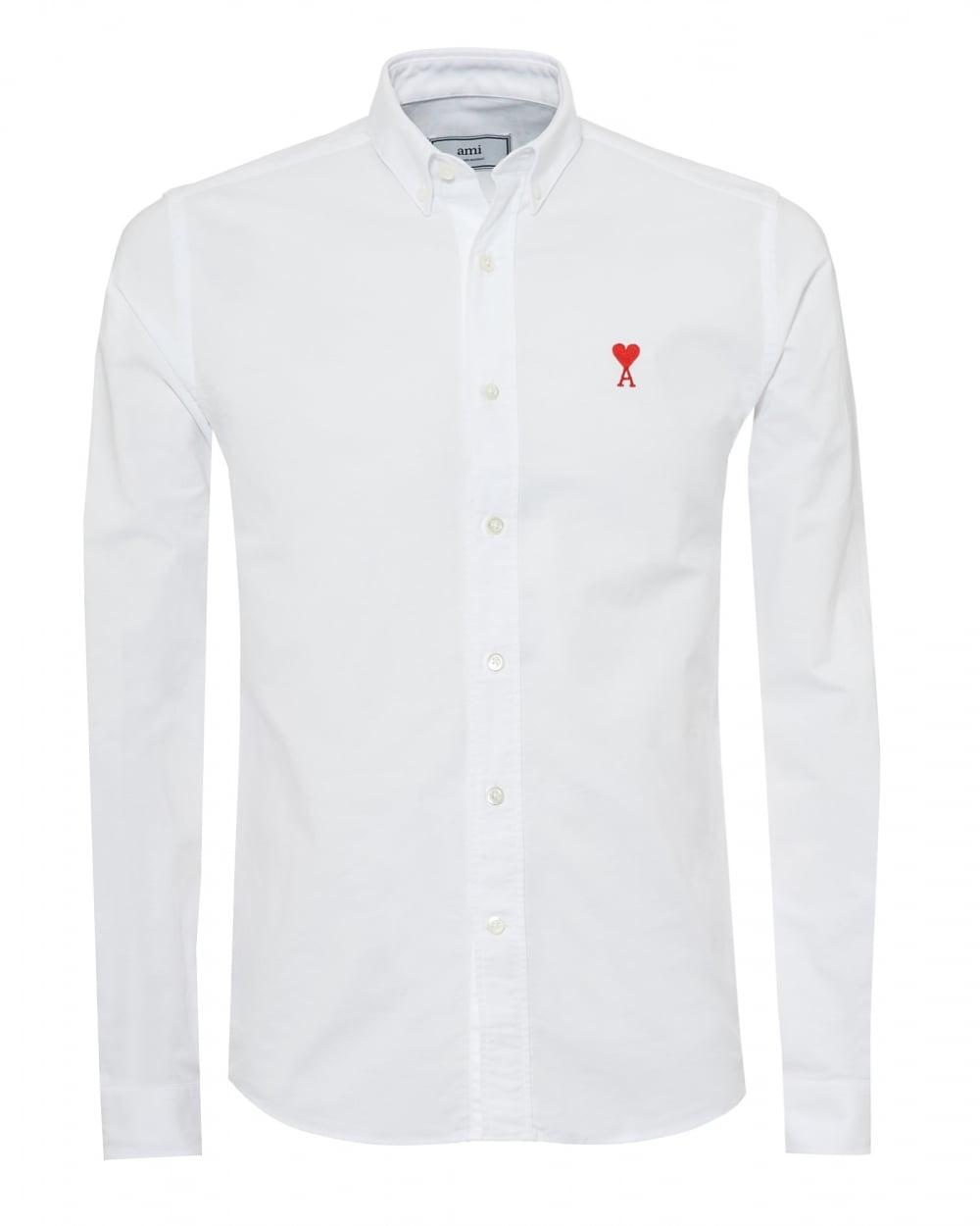 386778b3636 Ami Mens Embroidered Heart Logo Shirt