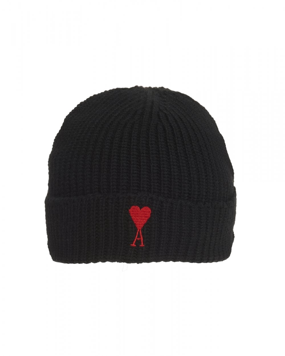 Ami Mens Heart Embroidered Beanie 845b1a648b8