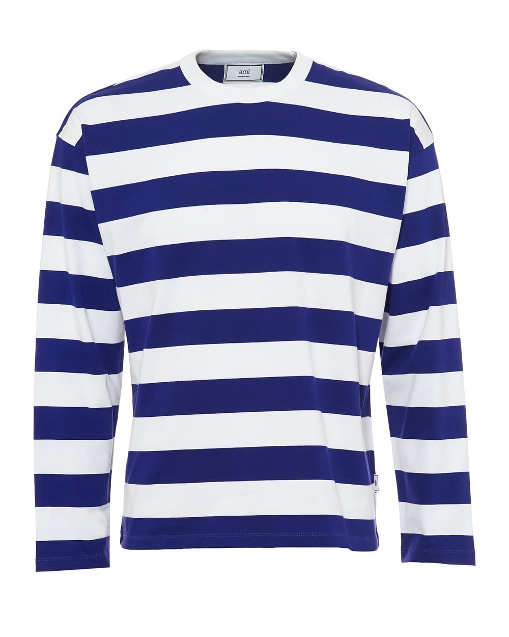 a858c2ed0e2502 Ami Mens Striped Sweatshirt