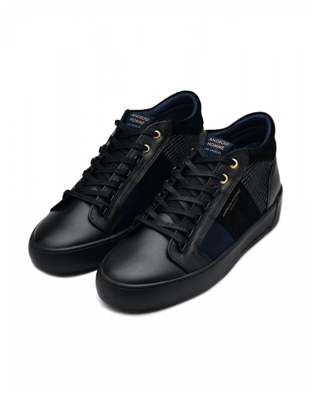 Android Homme Mens Propulsion Mid Geo Trainers Black