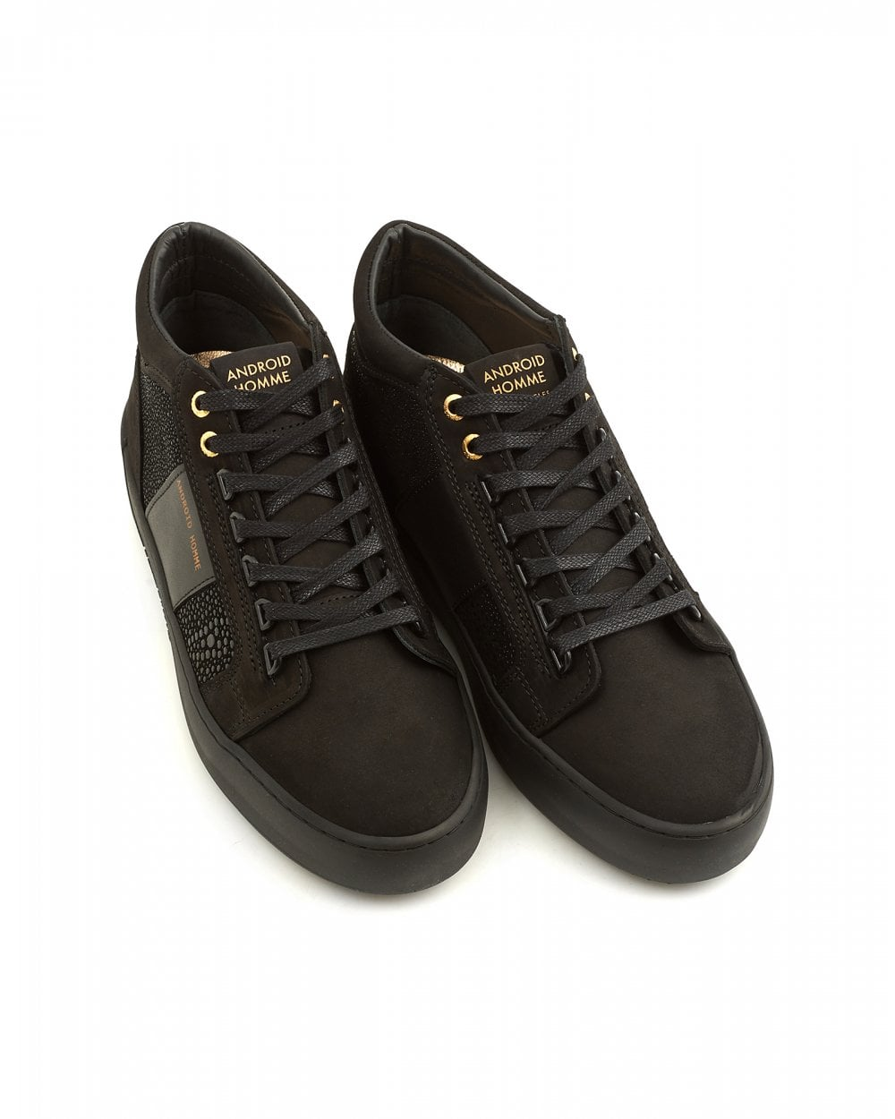 3102d9fe3b9f Android Homme Mens Propulsion Mid Geo Carbon Black Stingray Trainers