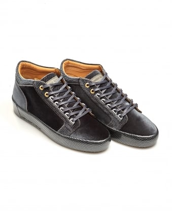 Mens Propulsion Mid Trainers, Print Velvet Deep Grey Sneakers