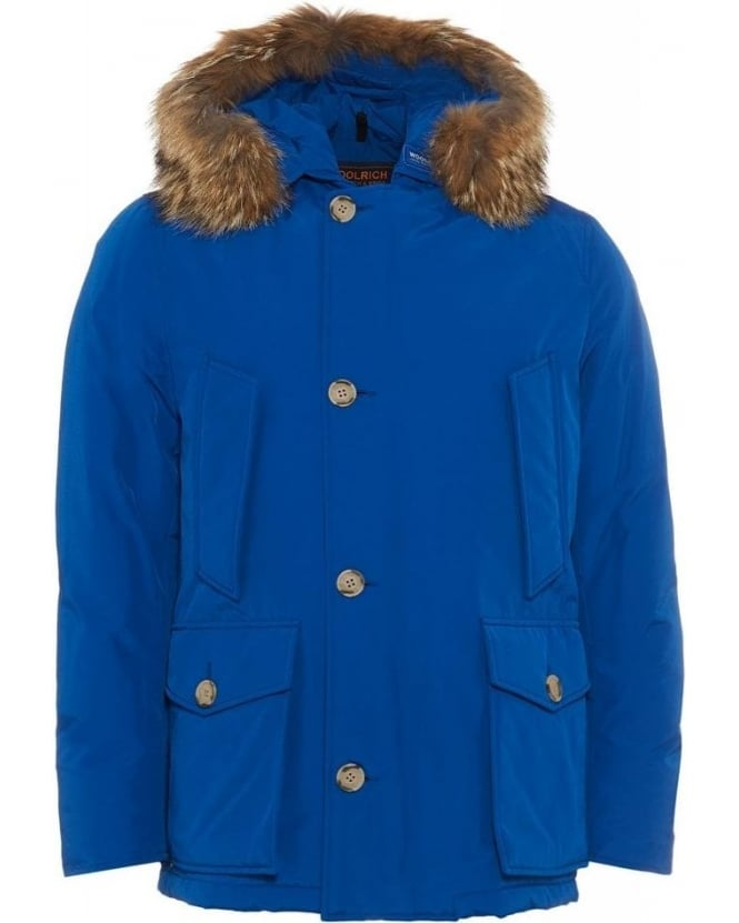 Woolrich Arctic Anorak Arctic Royal Blue Coat