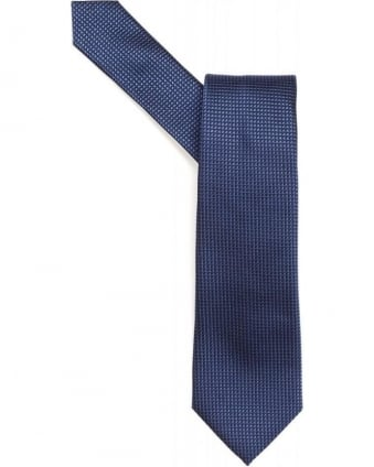 Blue Micro Stitch Textured Tie