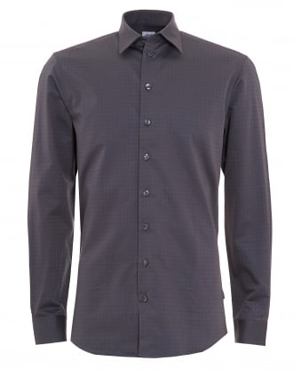 Mens All Over Dotted Grey Shirt