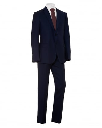 Mens All Over Tonic Fleck G-Line Cut Wool Blue Suit