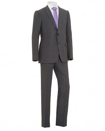 Mens End Texture 2 Button Wool Grey Suit