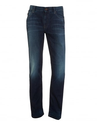 Mens J15 Jean, Regular Fit Dark Whiskered Denim